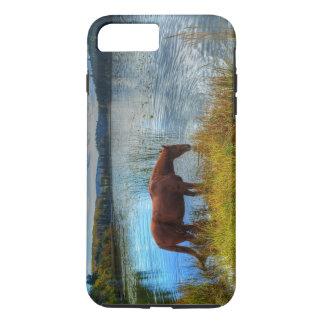 Sorrel Stallion Drinking At Scenic Lake Photo iPhone 7 Plus Case