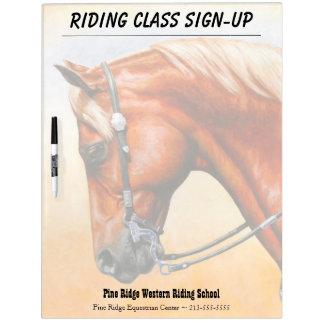Sorrel Western Pleasure Quarter Horse Dry Erase Board
