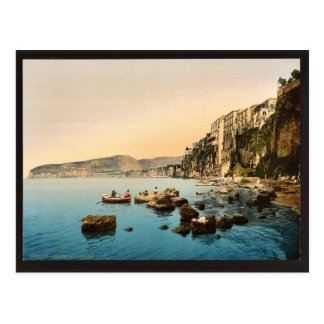 Sorrento by the sea, Naples, Italy classic Photoch Postcard