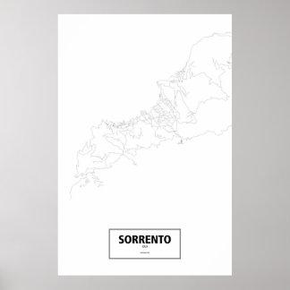 Sorrento, Italy (black on white) Poster