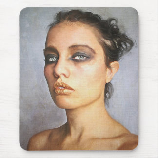 Sorrow classic oil portrait painting lady woman  b mouse pad
