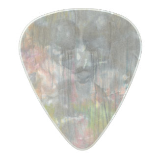 """Sorrow Falls"" Message guitar pick by CFW Pearl Celluloid Guitar Pick"
