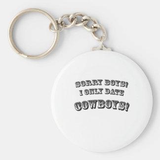 Sorry Boys Basic Round Button Key Ring
