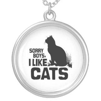 SORRY BOYS I LIKE CATS -.png Custom Jewelry