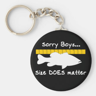 Sorry Boys.. Size does matter - funny bass fishing Key Ring