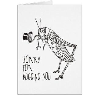 Sorry for bugging: Vintage grasshopper / cricket Card