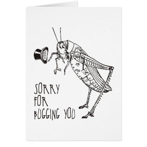 Sorry for bugging: Vintage grasshopper / cricket Cards