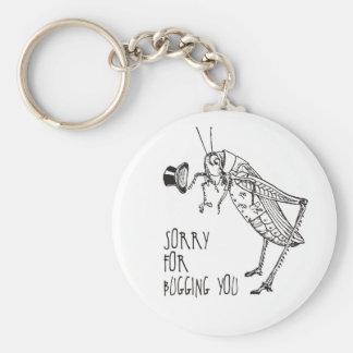 Sorry for bugging: Vintage grasshopper / cricket Key Ring