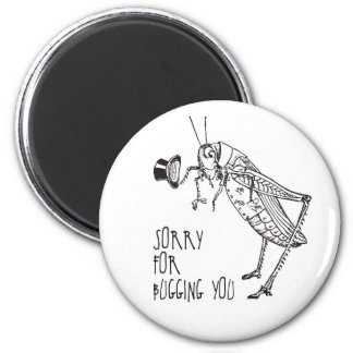 Sorry for bugging: Vintage grasshopper / cricket Magnet