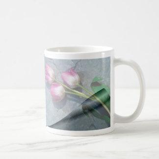 Sorry For Your Loss Pink Tulips Basic White Mug
