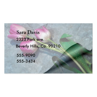 Sorry For Your Loss Pink Tulips Pack Of Standard Business Cards