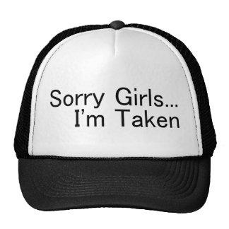 Sorry Girls Im Taken Trucker Hats