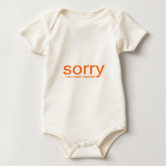 Sorry, I don't speak vegetarian Baby Bodysuit