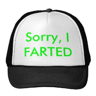 Sorry, I FARTED Cap