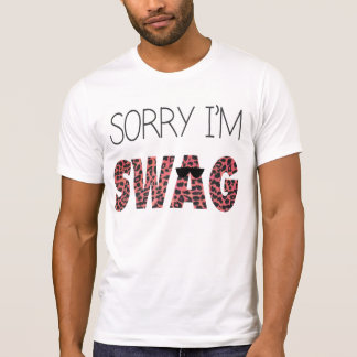 Sorry I m Swag - Funny Quote Pink Leopard Shirts