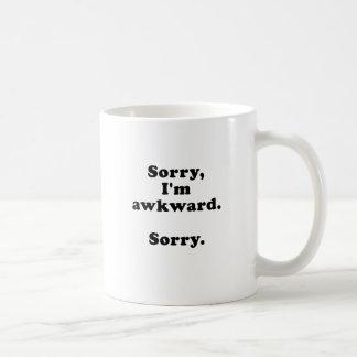 Sorry Im Awkward Sorry Basic White Mug