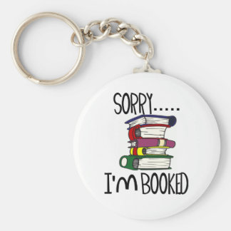Sorry...I'm Booked T-shirts and Gifts. Basic Round Button Key Ring