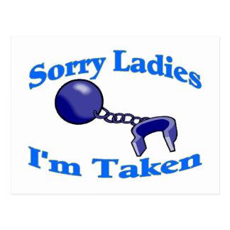 Sorry Ladies I'm Taken Postcard