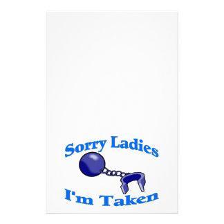 Sorry Ladies I'm Taken Customized Stationery