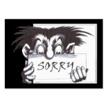 Sorry Large Business Cards (Pack Of 100)