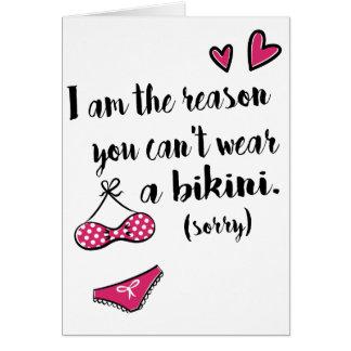 Sorry - Mothers Day Bikini Card
