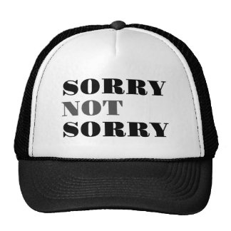 Sorry Not Sorry Hat