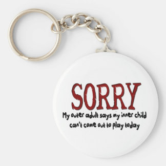 Sorry Outer Adult and Inner Child Basic Round Button Key Ring