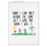 Sorry Parents Greeting Card