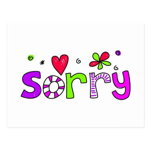 sorry postcard