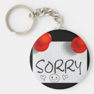 Sorry-rec23 Basic Round Button Key Ring