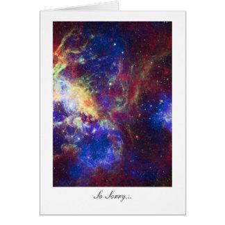 Sorry, Regrets, Apologize - Tarantula Nebula Stars Card