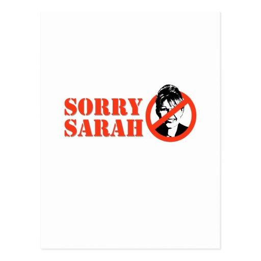 SORRY SARAH POST CARDS