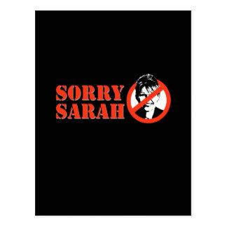 SORRY SARAH POST CARD