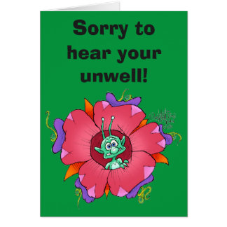 Sorry to hear your unwell, greeting card. greeting card