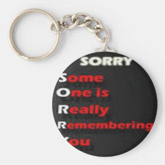 sorry word keychain