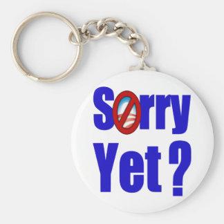 Sorry Yet? Basic Round Button Key Ring