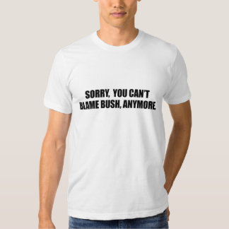 SORRY YOU CANT BLAME BUSH ANYMORE T SHIRT