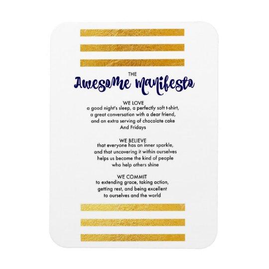 Sorta Awesome Manifesto Magnet