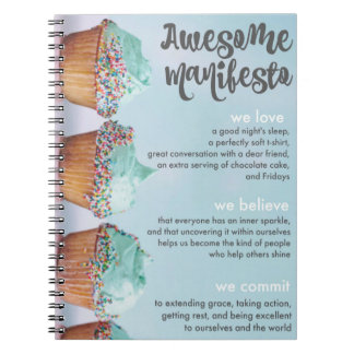 Sorta Awesome Manifesto Spiral Notebook