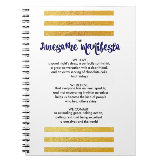 Sorta Awesome Manifesto Spiral Notebook