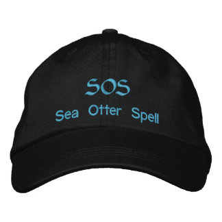 SOS, Sea Otter Spell Embroidered Hats