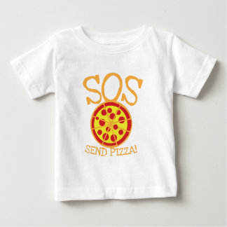 SOS! Send PIZZA! with yummy pepperoni pizza slice Baby T-Shirt