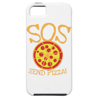 SOS! Send PIZZA! with yummy pepperoni pizza slice iPhone 5 Cases
