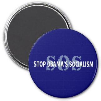SOS Stop Obama's Socialism 7.5 Cm Round Magnet