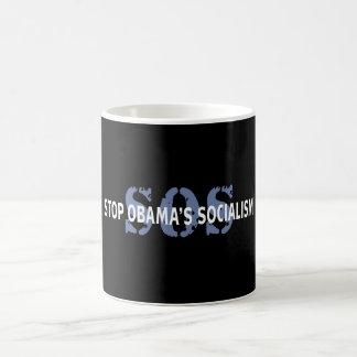 SOS Stop Obama's Socialism Basic White Mug