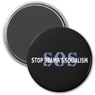 SOS Stop Obama's Socialism Fridge Magnet