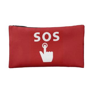 SOS, Subway Sign, Japan Makeup Bag