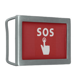 SOS, Subway Sign, Japan Belt Buckles