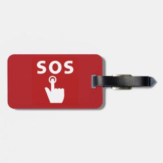 SOS, Subway Sign, Japan Travel Bag Tag