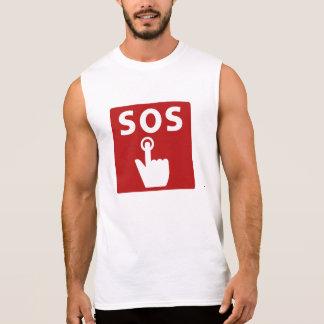 SOS, Subway Sign, Japan Sleeveless Shirt